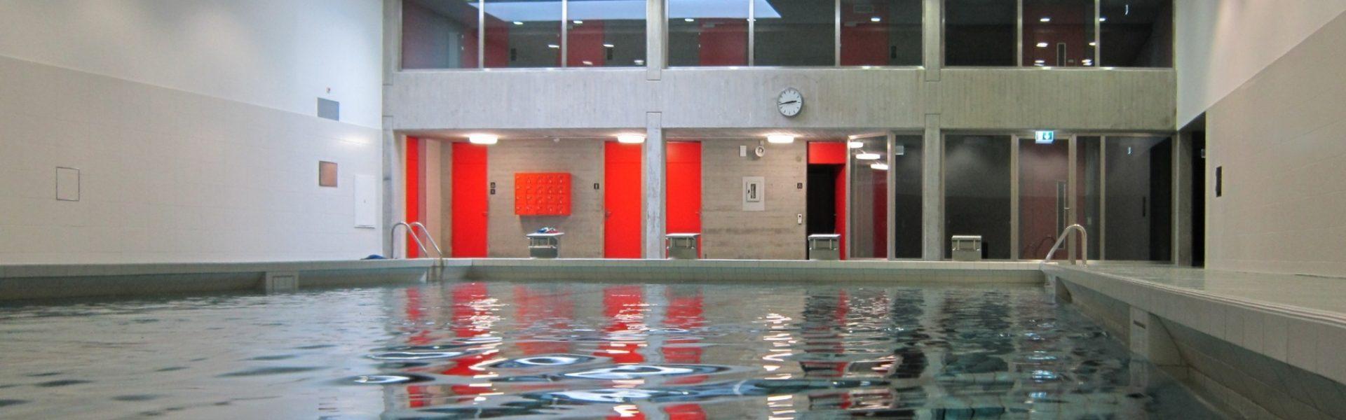 Schwimmhalle im 2. Untergeschoss